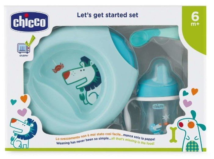 Комплект посуды Chicco 6 м+, 4 предмета