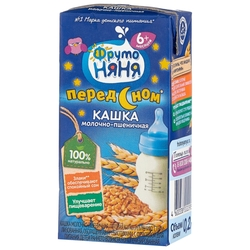 Каша ФрутоНяня молочная пшеничная (с 6 месяцев) 200 мл