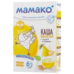 Каша МАМАКО молочная пшеничная на козьем молоке с грушей и бананом (с 6 месяцев) 200 г