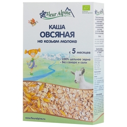 Каша Fleur Alpine молочная овсяная на козьем молоке (с 5 месяцев) 200 г