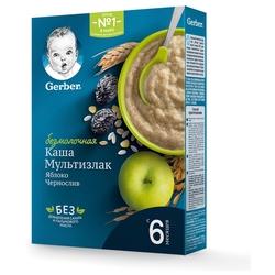 Каша Gerber безмолочная мультизлаковая с яблоком и черносливом (с 6 месяцев) 180 г