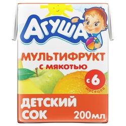 Сок с мякотью Агуша Мультифрукт, c 6 месяцев