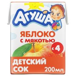 Сок с мякотью Агуша Яблоко, c 4 месяцев