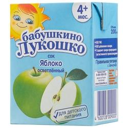 Сок осветленный Бабушкино Лукошко Яблоко (Tetra Pak), c 4 месяцев