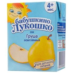 Сок осветленный Бабушкино Лукошко Груша (Tetra Pak), c 4 месяцев