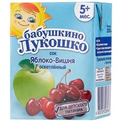 Сок осветленный Бабушкино Лукошко Яблоко-вишня (Tetra Pak), с 5 месяцев