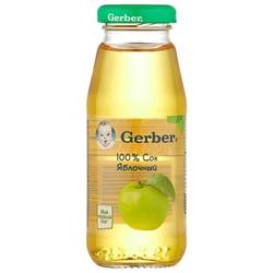 Сок Gerber Яблочный, с 4 месяцев