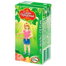 Сок Сады Придонья Яблоко-персик, с 5 месяцев