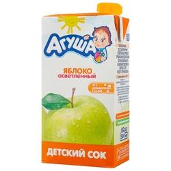 Сок осветленный Агуша Яблоко, c 3 лет