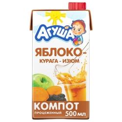 Компот Агуша Изюм-курага-яблоко, c 3 лет