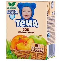 Сок с мякотью Тёма Яблоко-персик, c 5 месяцев
