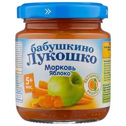 Пюре Бабушкино Лукошко морковь-яблоко (с 5 месяцев) 100 г, 1 шт
