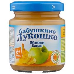 Пюре Бабушкино Лукошко яблоко-банан (с 6 месяцев) 100 г, 1 шт.