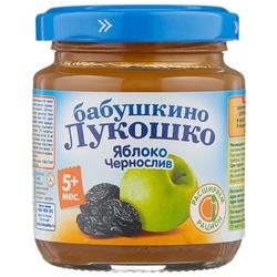 Пюре Бабушкино Лукошко яблоко-чернослив (с 5 месяцев) 100 г, 1 шт.