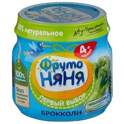 Пюре ФрутоНяня из брокколи (с 4 месяцев) 80 г, 1 шт