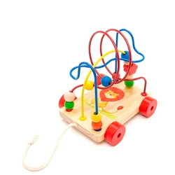 Каталка-игрушка Мир деревянных игрушек Лев (LL160)