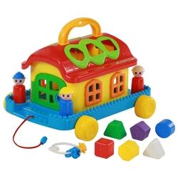 Каталка-игрушка Полесье Сказочный домик на колесиках (48769)