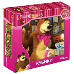 Кубики-пазлы СТЕП Маша и Медведь 87133