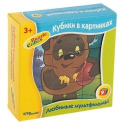 Кубики-пазлы СТЕП Любимые мультфильмы 87309