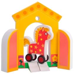 Кубики Деревяшки Лошадка Иго-Го 18WEVA05