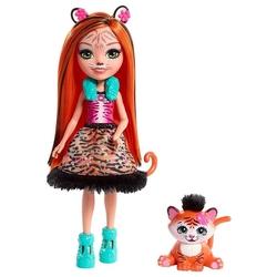 Кукла Enchantimals Тензи Тигра с любимой зверюшкой, 15 см, FRH39