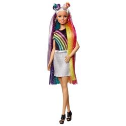 Кукла Barbie с радужной мерцающей прической, FXN96
