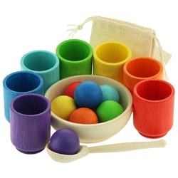Развивающая игрушка Уланик Шарики в стаканчиках Большие Радуга