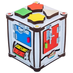 Бизиборд IWOODPLAY Бизи-куб со светом 17х17х18