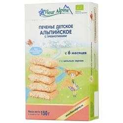 Печенье Fleur Alpine Альпийское с пребиотиками (с 6 месяцев)