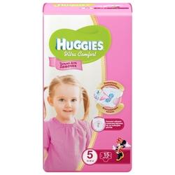 Huggies подгузники Ultra Comfort для девочек 5 (12-22 кг) 15 шт.