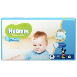 Huggies подгузники Ultra Comfort для мальчиков 4 (8-14 кг) 66 шт.
