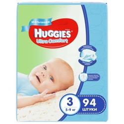 Huggies подгузники Ultra Comfort для мальчиков 3 (5-9 кг) 94 шт.