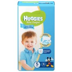 Huggies подгузники Ultra Comfort для мальчиков 5 (12-22 кг) 15 шт.