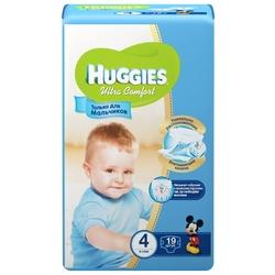 Huggies подгузники Ultra Comfort для мальчиков 4 (8-14 кг) 19 шт.