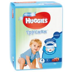 Huggies трусики для мальчиков 4 (9-14 кг) 17 шт.
