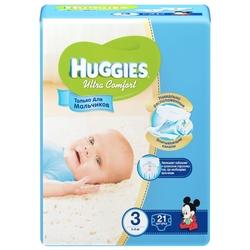 Huggies подгузники Ultra Comfort для мальчиков 3 (5-9 кг) 21 шт.