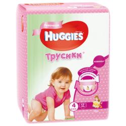 Huggies трусики для девочек 4 (9-14 кг) 17 шт.