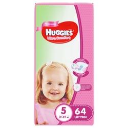 Huggies подгузники Ultra Comfort для девочек 5 (12-22 кг) 64 шт.