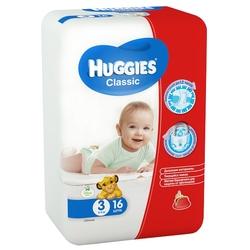 Huggies подгузники Classic 3 (4-9 кг) 16 шт.
