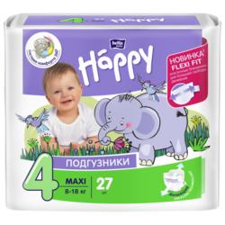 Bella Baby happy подгузники fun 4 (8-18 кг) 27 шт.