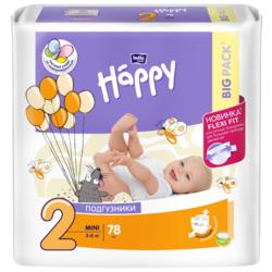 Bella Baby happy подгузники start 2 (3-6 кг) 78 шт.