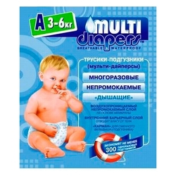 Multi Diapers подгузник A (3-6 кг) 1 шт.