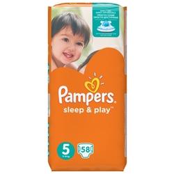 Pampers подгузники Sleep&Play 5 (11-18 кг) 58 шт.