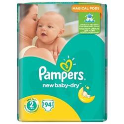 Pampers подгузники New Baby-Dry 2 (3-6 кг) 94 шт.