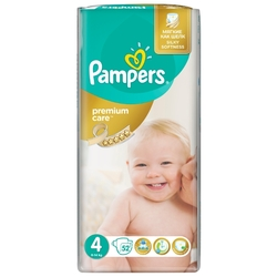 Pampers подгузники Premium Care 4 (8-14 кг) 52 шт.