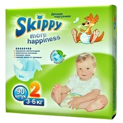Skippy подгузники More Happiness 2 (3-6 кг) 90 шт.