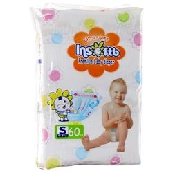 Insoftb подгузники Premium Ultra-soft (4-8 кг) 60 шт.