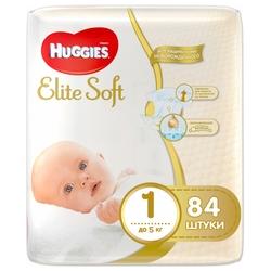 Huggies подгузники Elite Soft 1 (до 5 кг) 84 шт.