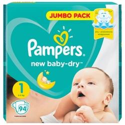 Pampers подгузники New Baby Dry 1 (2-5 кг) 94 шт.