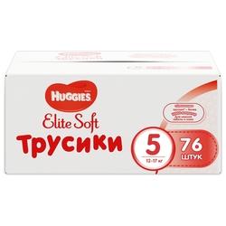 Huggies Elite Soft трусики 5 (12-17 кг) 76 шт.